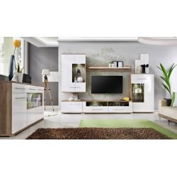Obývací stěna Saala s komodou