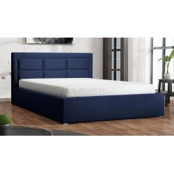 Čalouněná postel s úložným prostorem a roštem Pesto