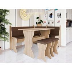 Kuchyňský sedací kout + stůl se stoličkami Thomas