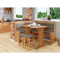 Kuchyňský sedací kout + stůl se stoličkami Mexic