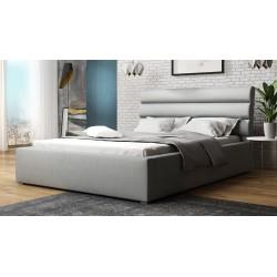 Čalouněná postel s úložným prostorem a roštem Exorim