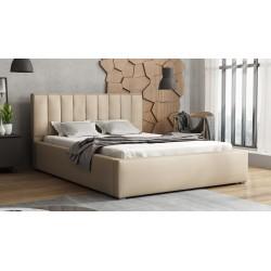 Čalouněná postel s úložným prostorem a roštem Ideal